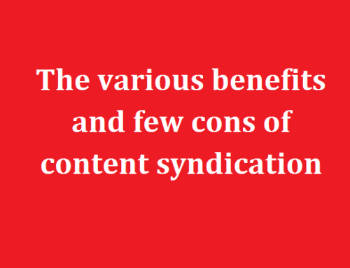 The various benefits and few cons of content syndication