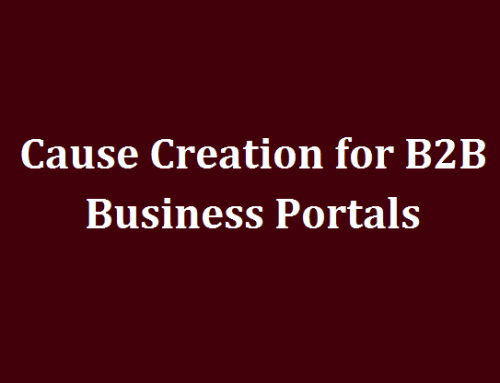 Cause Creation for B2B Business Portals